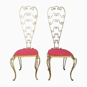 Highback Chairs, 1950s, Set of 2