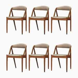 Chaises de Salle à Manger par Kai Kristiansen, 1960s, Set de 6