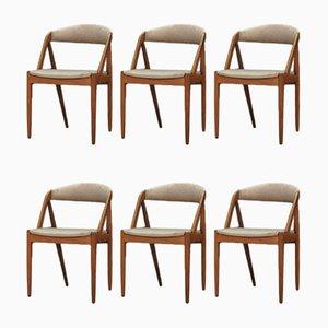 Esszimmerstühle von Kai Kristiansen, 1960er, 6er Set