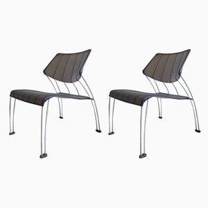 Hasslo Beistellstühle von Monika Mulder für Ikea, 1990er, 2er Set