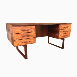 Scandinavian Modern Rosewood Desk by Henning Jensen and Torben Valeur
