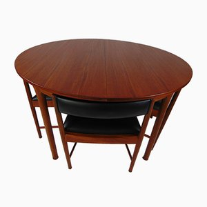 Table et 4 Chaises de Salle à Manger Vintage de McIntosh, 1960s