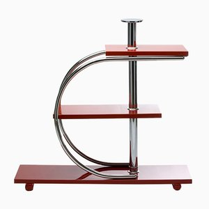 Vintage Bauhaus-Style Tubular Chromed Flower Stand by Jindřich Halabala for UP Závody