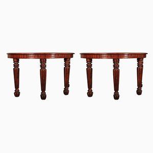 Antique Demi-Lune Console Tables, Set of 2