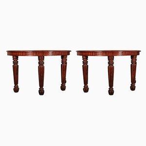 Tables Consoles en Demi-Lune Antiques, Set de 2