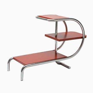 Jardinera estilo Bauhaus vintage tubular cromada de Jindřich Halabala para UP Závody