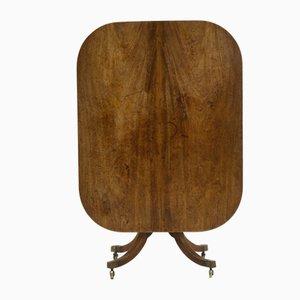 Englischer Antiker Regency Frühstückstisch aus Mahagoni mit klappbarer Tischplatte