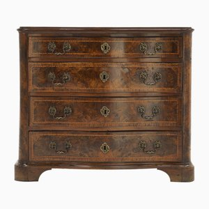 18th-Century Burr Walnut Commode