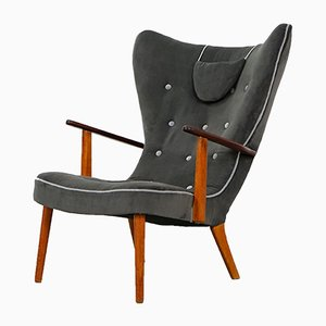 Vintage Danish Pragh Lounge Chair by Ib Madsen & Acton Schubell, 1950s