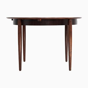 Mid-Century Rosewood Round Dining Table from Lübke, 1960s