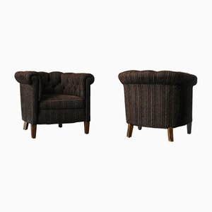 Danish Art Deco Lounge Chairs, Set of 2