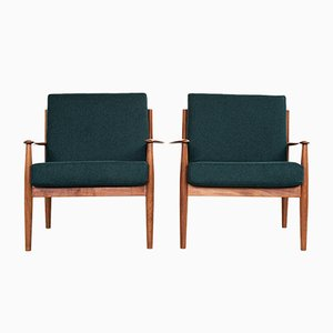 Mid-Century Danish Teak Easy Chairs by Grete Jalk for France & Søn, 1960s, Set of 2