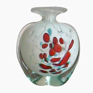 Vase Vintage en Verre par Michael Harris pour Mdina, Malte, 1970s