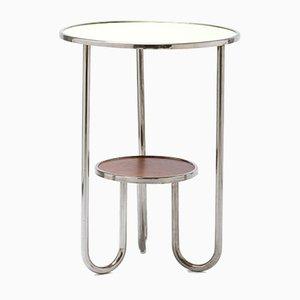 Vintage Bauhaus-Style Tubular Chromed Steel Side Table by K.E. Ort for Hynek Gottwald