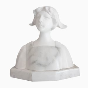 Small Antique Female Bust by Aurilli