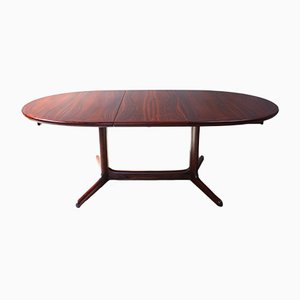 Vintage Danish Rosewood Oval Dining Table, 1960s