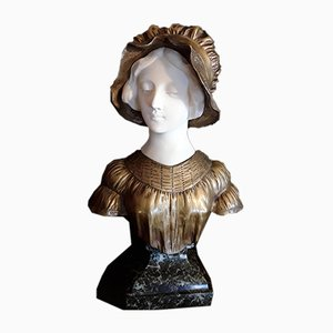 Antike Jugendstil Bronze, Alabaster & Marmor von Afortunato Gory