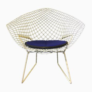 Chaise Diamond Modèle 421 Mid-Century par Harry Bertoia pour Knoll International, 1972