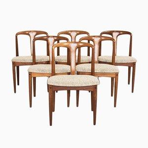 Mid-Century Juliane Esszimmerstühle von Johannes Andersen für Uldum Møbelfabrik, 1960er, 6er Set