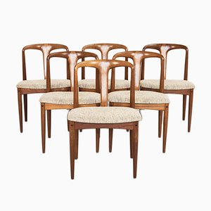 Sedie da pranzo Juliane Mid-Century di Johannes Andersen per Uldum Møbelfabrik, anni '60, set di 6