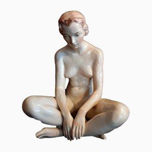 Figurine Art Déco en Porcelaine de Haas & Czjzek, 1930s