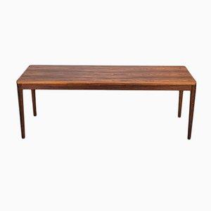 Tavolino da caffè rettangolare in legno, anni '60