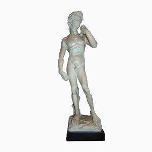 Statua da giardino David in alabastro, anni '70