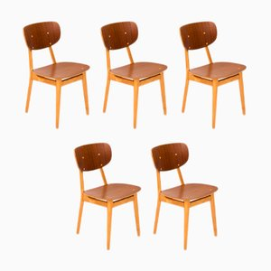 SB13 Dining Chairs by Cees Braakman for Pastoe, 1950s, Set of 5