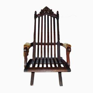 Antiker Jugendstil Liegestuhl aus Holz