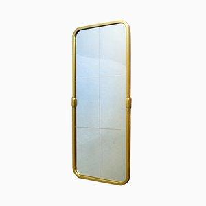 Vintage Golden Aluminum Mirror, 1950s