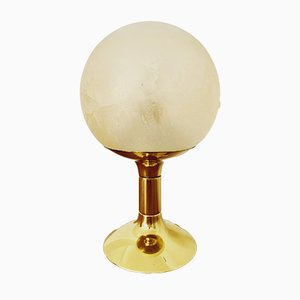 Space Age Brass Sputnik Table Lamp from Kaiser Idell, 1960s