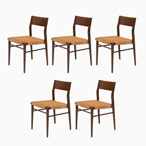 Model 351 Dining Chairs by Georg Leowald for Wilkhahn, 1950s, Set of 5