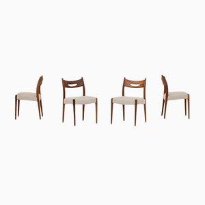 Niederländische Esszimmerstühle, 1960er, 4er Set
