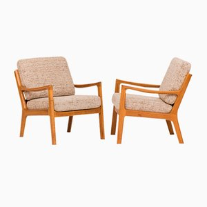 Model 166 Lounge Chairs by Ole Wanscher for France & Søn / France & Daverkosen, 1950s, Set of 2