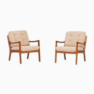 Modell 166 Armlehnstühle von Ole Wanscher für Cado, 1950er, 2er Set