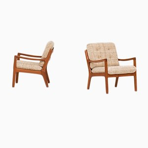 Model 166 Armchairs by Ole Wanscher for Cado, 1950s, Set of 2