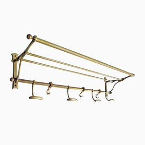 Golden Metal Coat Rack, 1940s