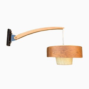 Mid-Century Scandinavian Swing-Arm Sconce, 1960s