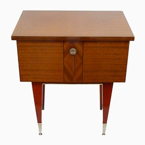 Mid-Century Varnished Wood Nightstand