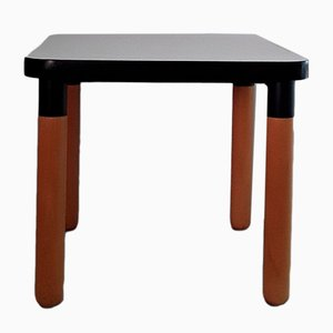 Vintage Formica and Beech Square Side Table from Thonet, 1970s