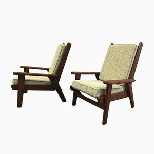 FS 108 Lounge Chairs by Pierre Guariche for Free Span, 1950s, Set of 2