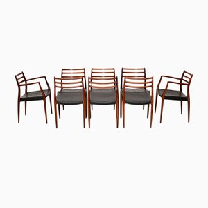 Rosewood Model 78 Dining Chairs by Niels Moller, 1960s, Set of 8