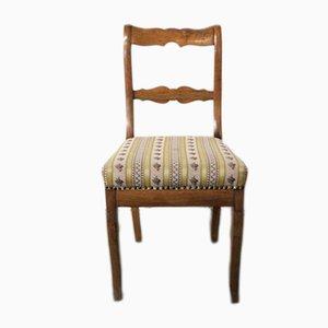 Antiker Biedermeier Beistellstuhl aus Nussholz