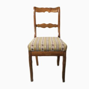 Antique Biedermeier Walnut Side Chair