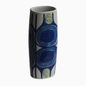 Vase Aluminia Mid-Century par Inge Lise Koefoed pour Royal Copenhagen