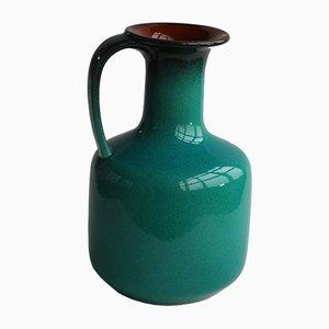 Deutsche Mid-Century Vase in Türkis von Gräflich Ortenburg, 1960er
