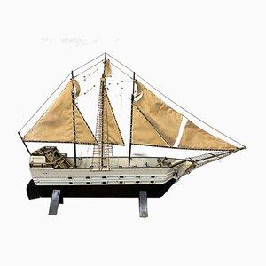 Vintage Wooden Decorative Boat