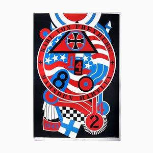 Stampa serigrafica della serie Berlin Karl Von Freyburg: Hartley Elegies di Robert Indiana, anni '90