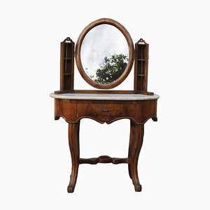 Antique Italian Walnut Dressing Table, 1800s