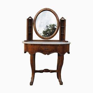 Antique Italian Walnut Dressing Table, 1800s